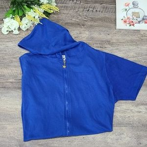 Royal Blue Hooded Cover-up